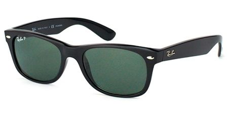 193ab4010d Gafas de sol - Ray-Ban Sun Collection - RB2132 NEW WAYFARER - 901/58 BLACK  CRYSTAL GREEN POLARIZED
