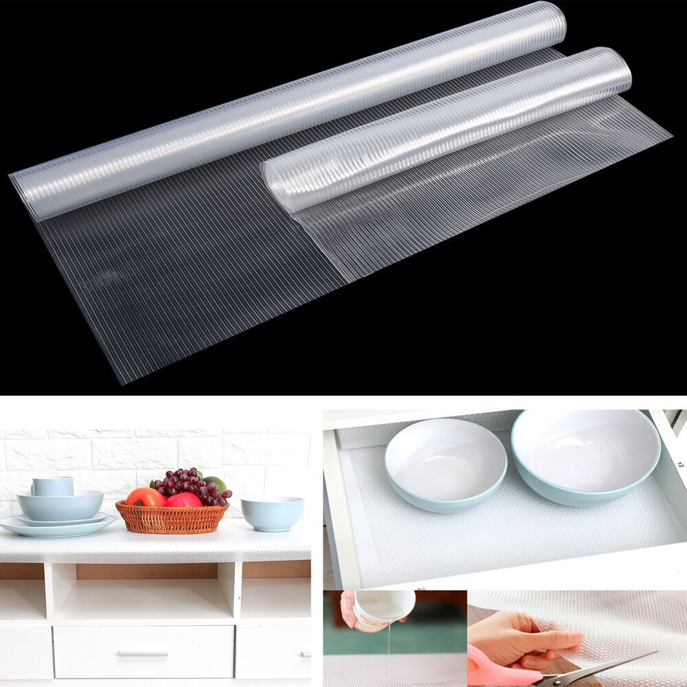 4 53 Transparent Cupboard Cabinet Shelf Drawer Liner Non Slip Table Cover For Home Drawer Liner Table Covers Bedroom Cupboards