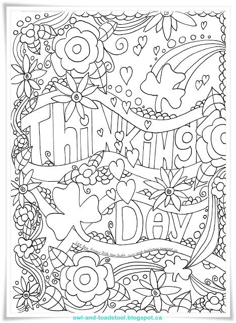 awesome thinking day coloring pages free printables from owl toadstool - Thinking Of You Coloring Pages