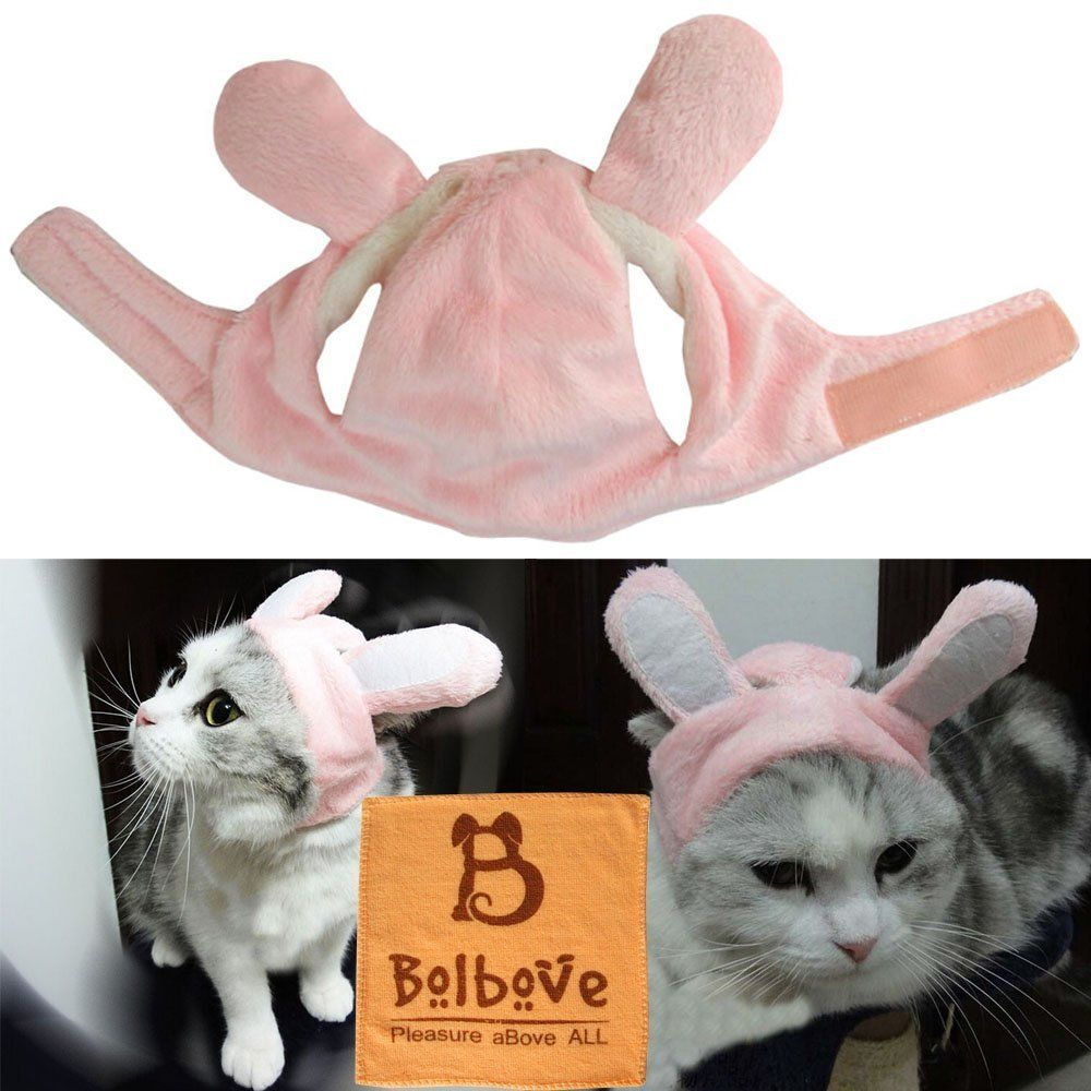 Bro Bear Bunny Rabbit Hat With Ears For Cats And Small Dogs Party