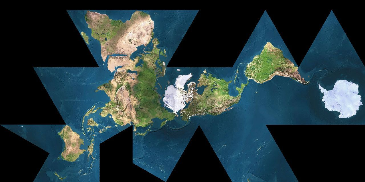 Repin of r buckminster fullers dymaxion map showing for the dymaxion map showing the near contiguity of earths continents gumiabroncs Gallery