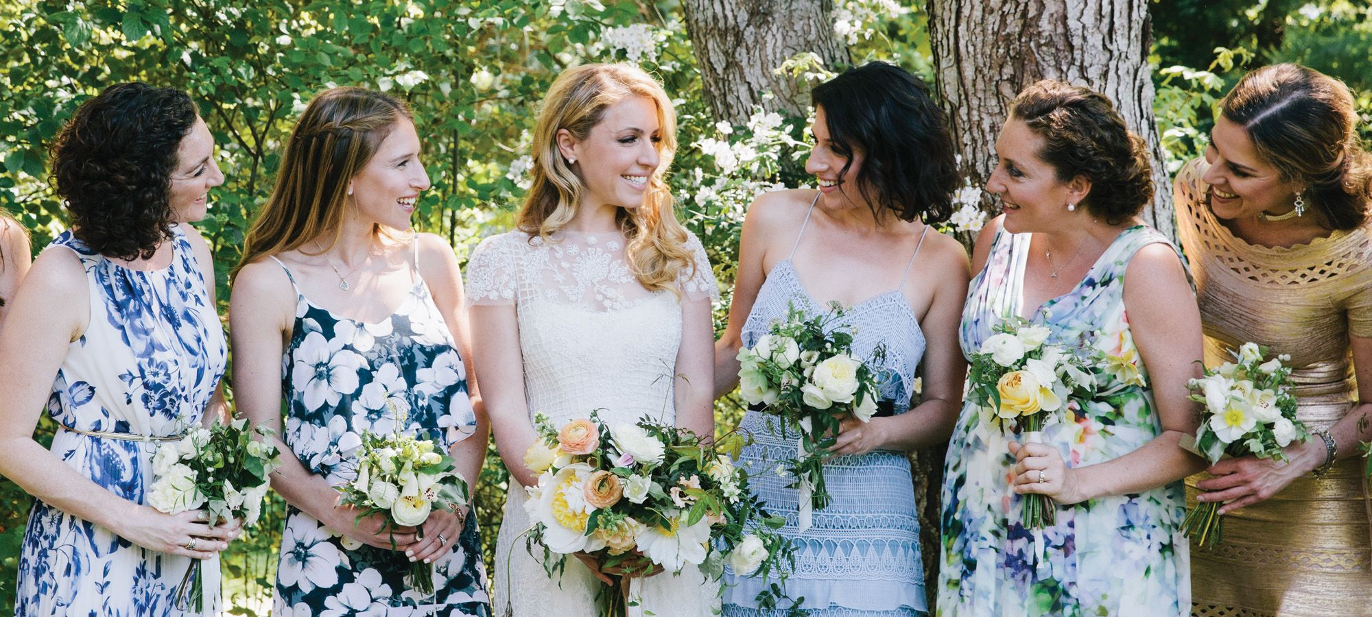 Emily niko blue and white floral bridesmaid dresses island emily niko blue and white floral bridesmaid dresses island weddings ombrellifo Image collections