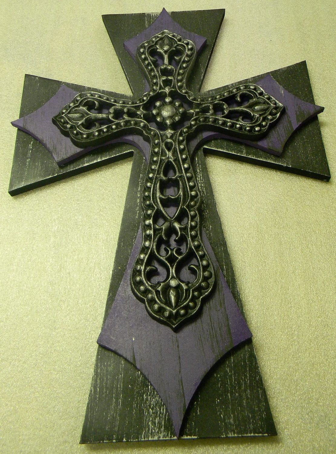 decorative wooden crosses | Wooden Decorative Finished Cross Painted ...