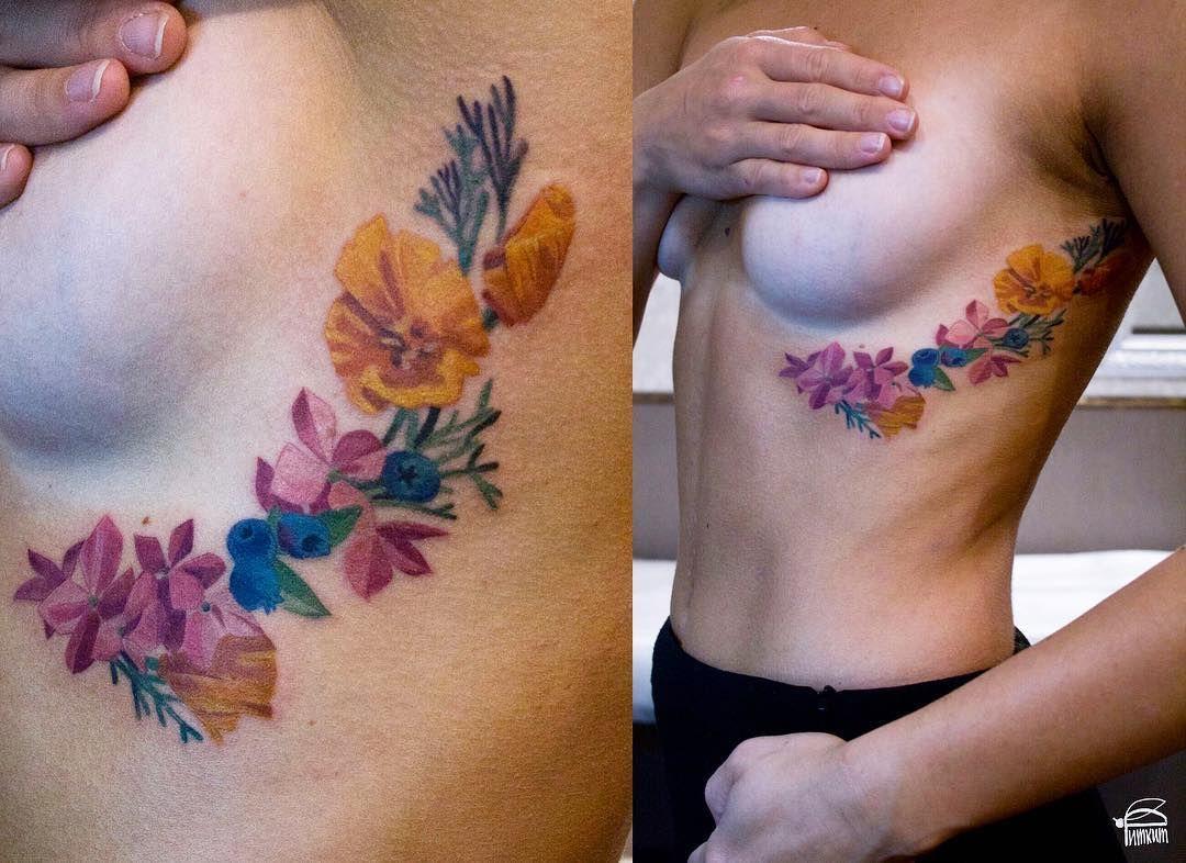 california poppies hortensia and blueberries tattoo tattrx tattoos tattoo ideas. Black Bedroom Furniture Sets. Home Design Ideas
