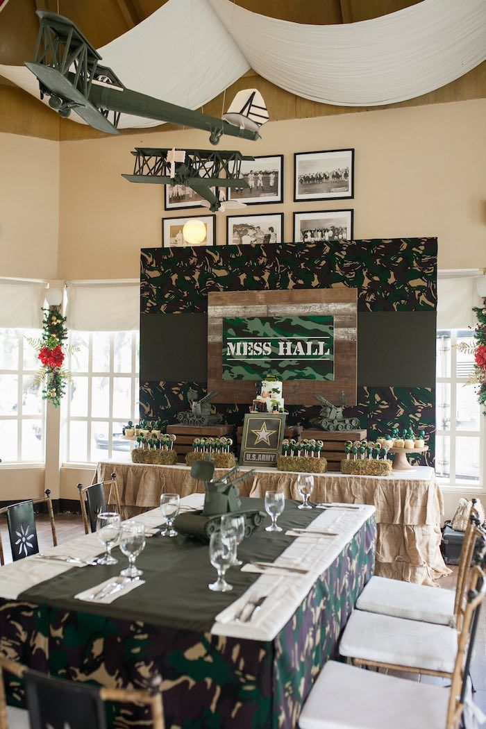 Awesome Military Army Birthday Party Decorations