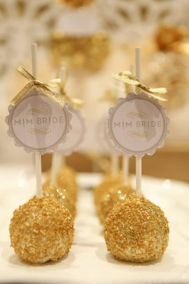 White And Gold Wedding Cake Pops By Kiss Me Kate