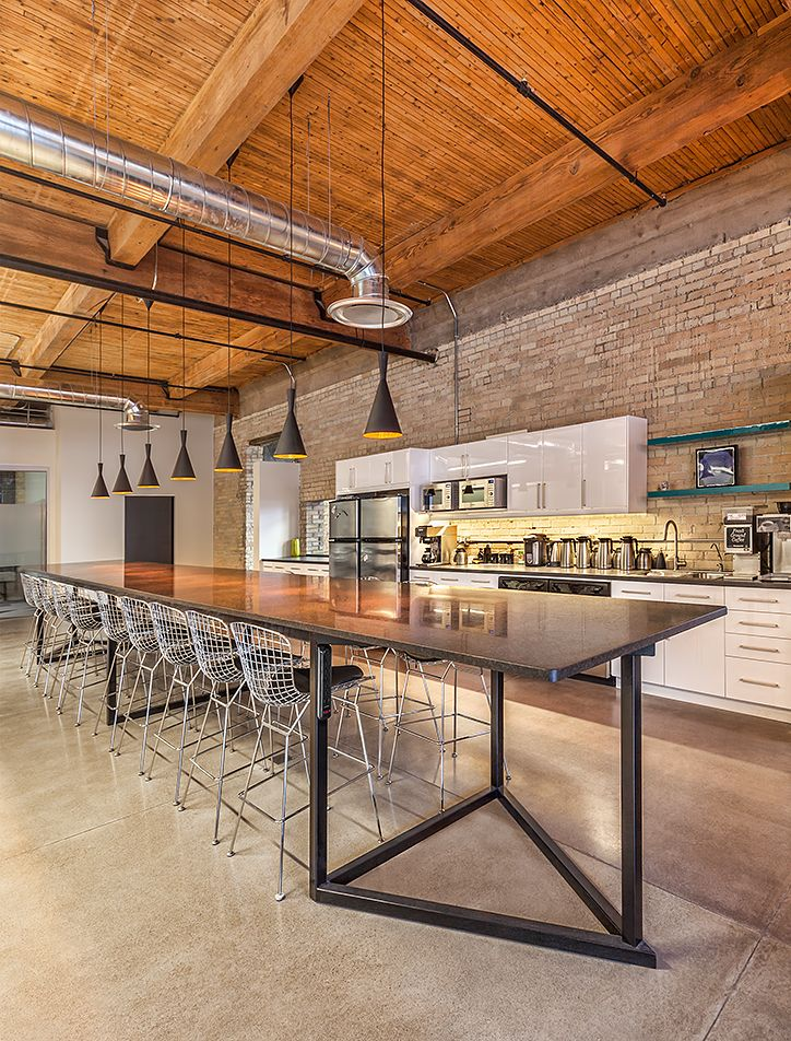 Thinkform Architecture Interiors Inc Thalamic Labs Lunch Room