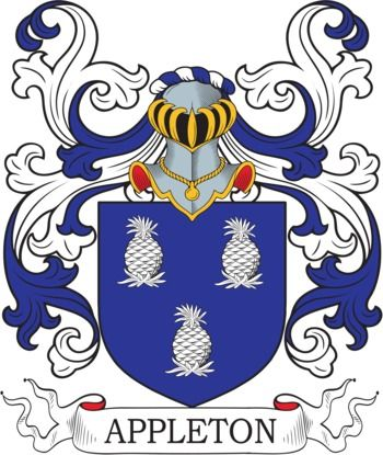 Appleton Family Crest and Coat of Arms