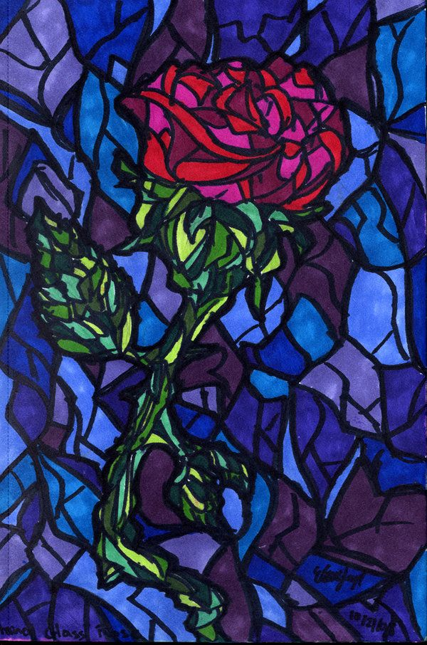 Stained Glass Rose By Shmelanna On Deviantart Beauty And The Beast Wallpaper Stained Glass Rose Beast Wallpaper