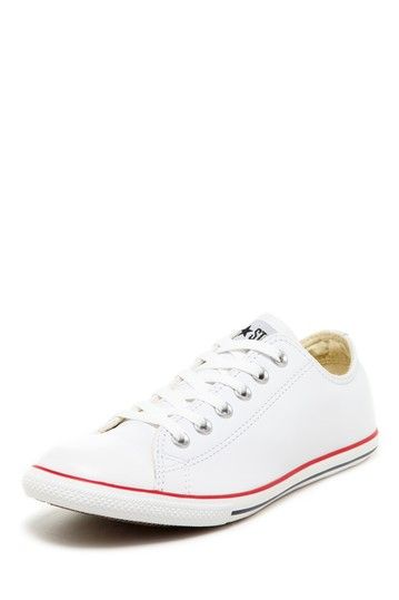 a117ff467650c5 Chuck Taylor Unisex White Leather Slim Ox Sneaker by Converse on  HauteLook