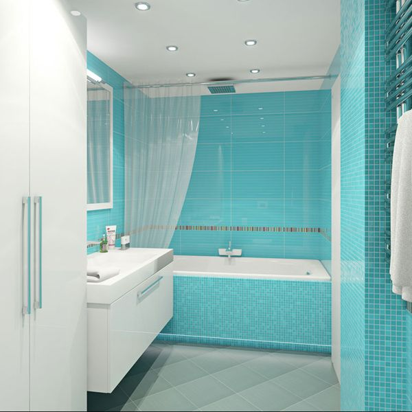 Light Blue Decor 10 Small Bathroom Ideas For Your Apartment Revedecor Blue Bathroom Tile Blue Bathroom Small Bathroom Solutions