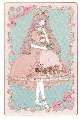 """Marune"" (Girl with Box) Postcard from Imai Kira (#PC85) - Lolita Desu"