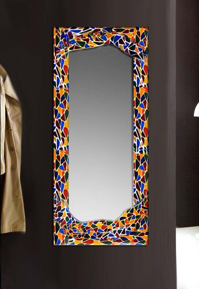 Resultado de imagen para espejos decorados a mano for Espejos con marco de madera decorados