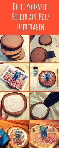 Fotos bzw. Bilder auf Holz übertragen - Die Anleitung