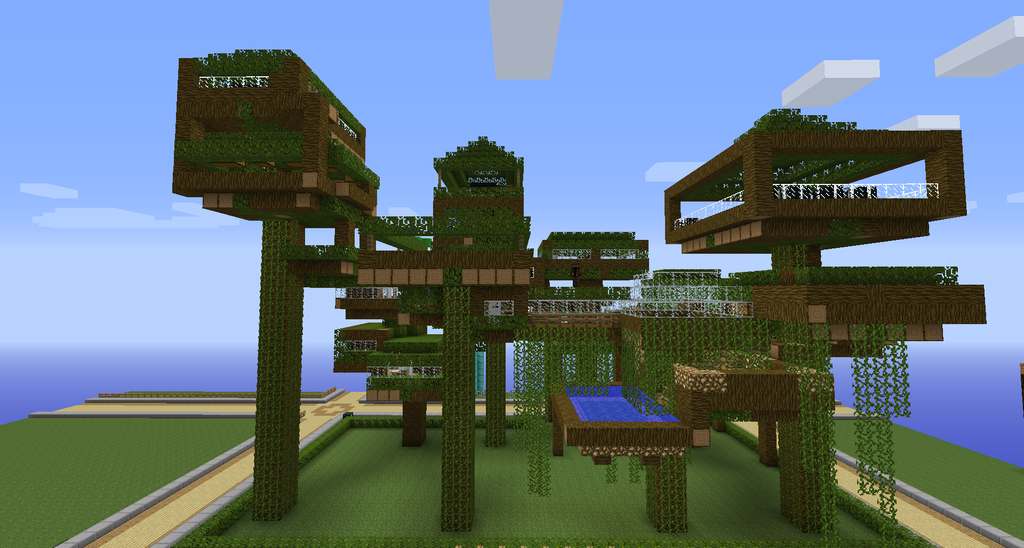 minecraft tree houses search and buy this product at amazoncom - Biggest House In The World Minecraft