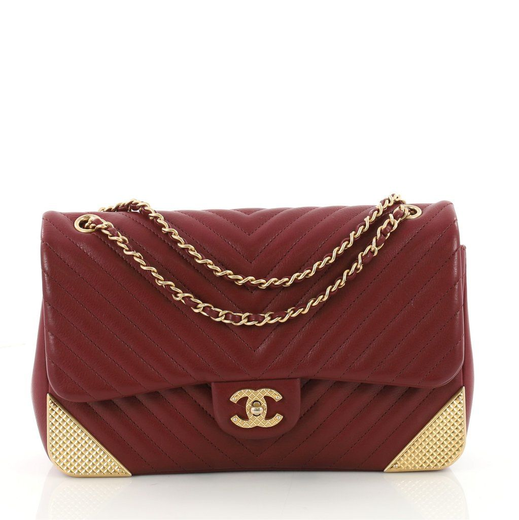 2e5041707d9e Buy Chanel Rock the Corner Flap Bag Chevron Leather Medium 3426701 – Rebag
