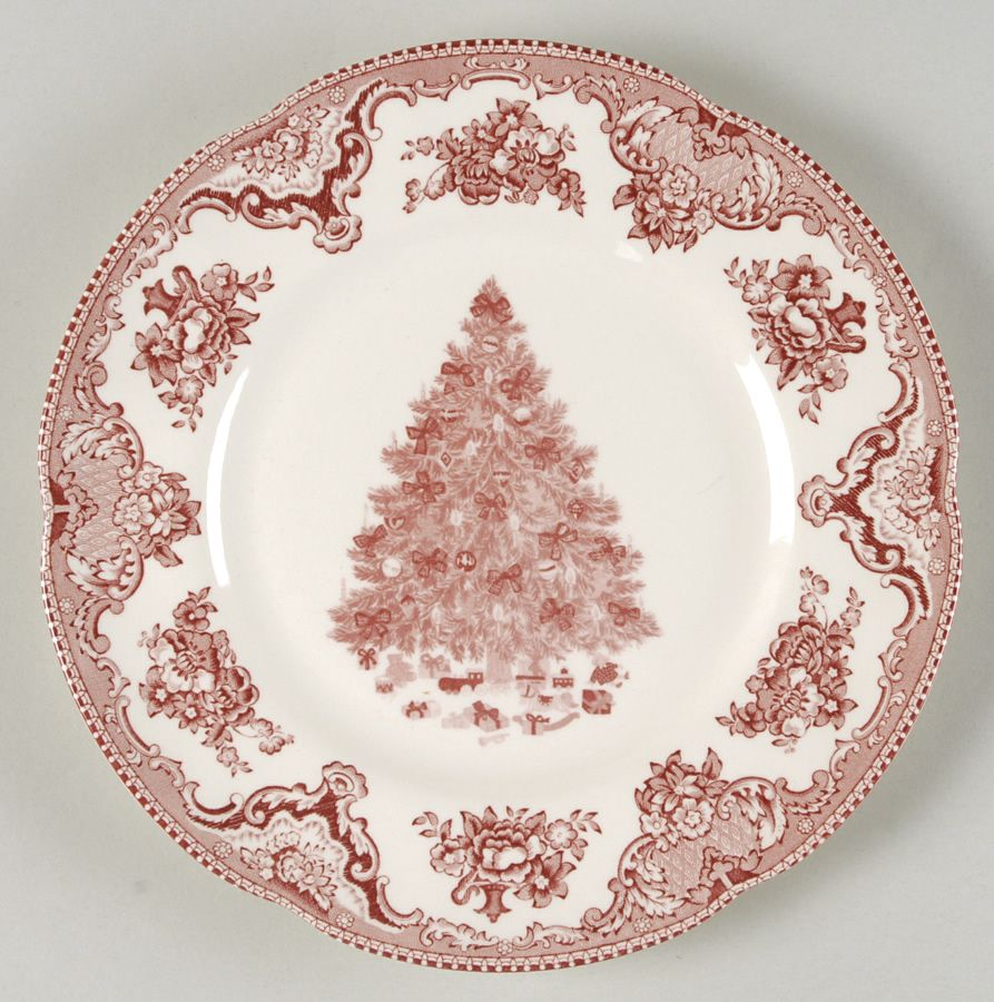 christmas china dinnerware | Old Britain Castles-Pink Christmas by ...