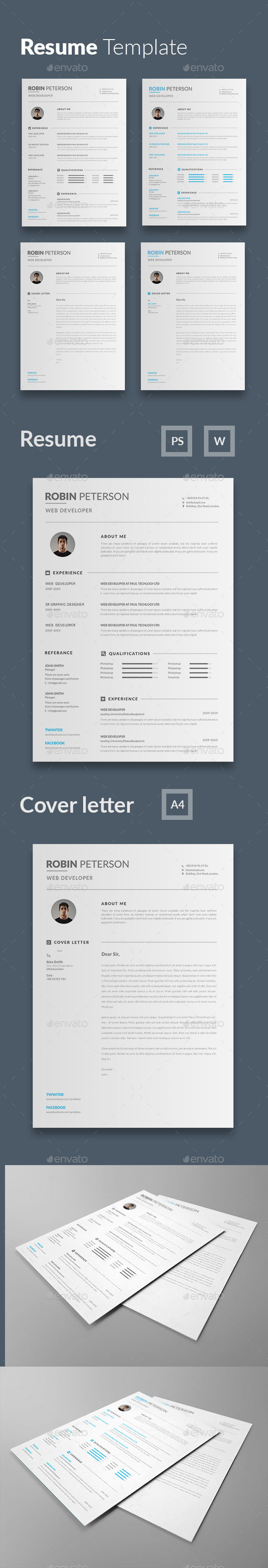 Resume - Resumes Stationery Download here: https://graphicriver.net ...