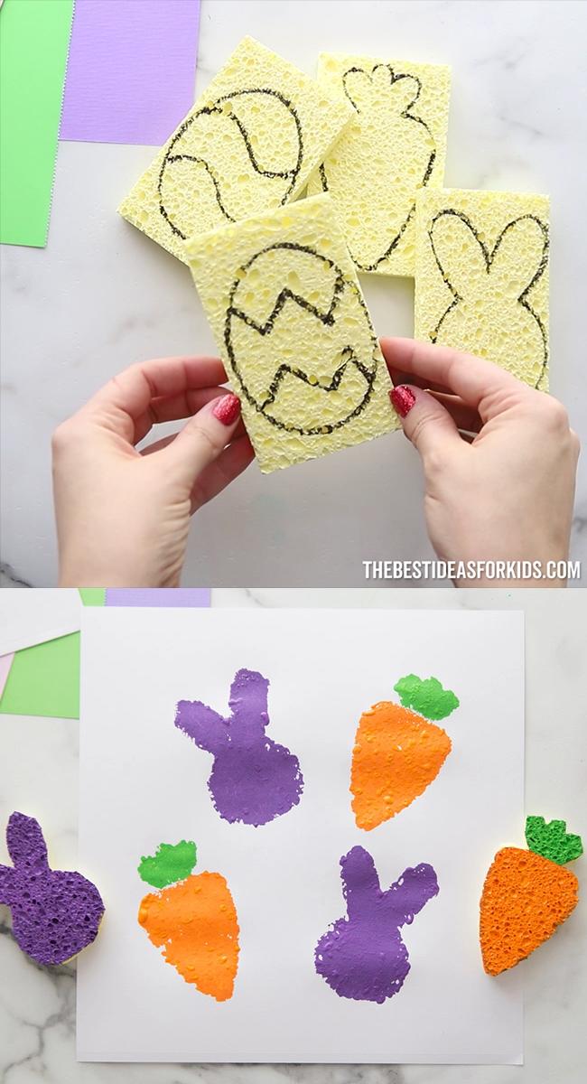 Easter Sponge Stamping