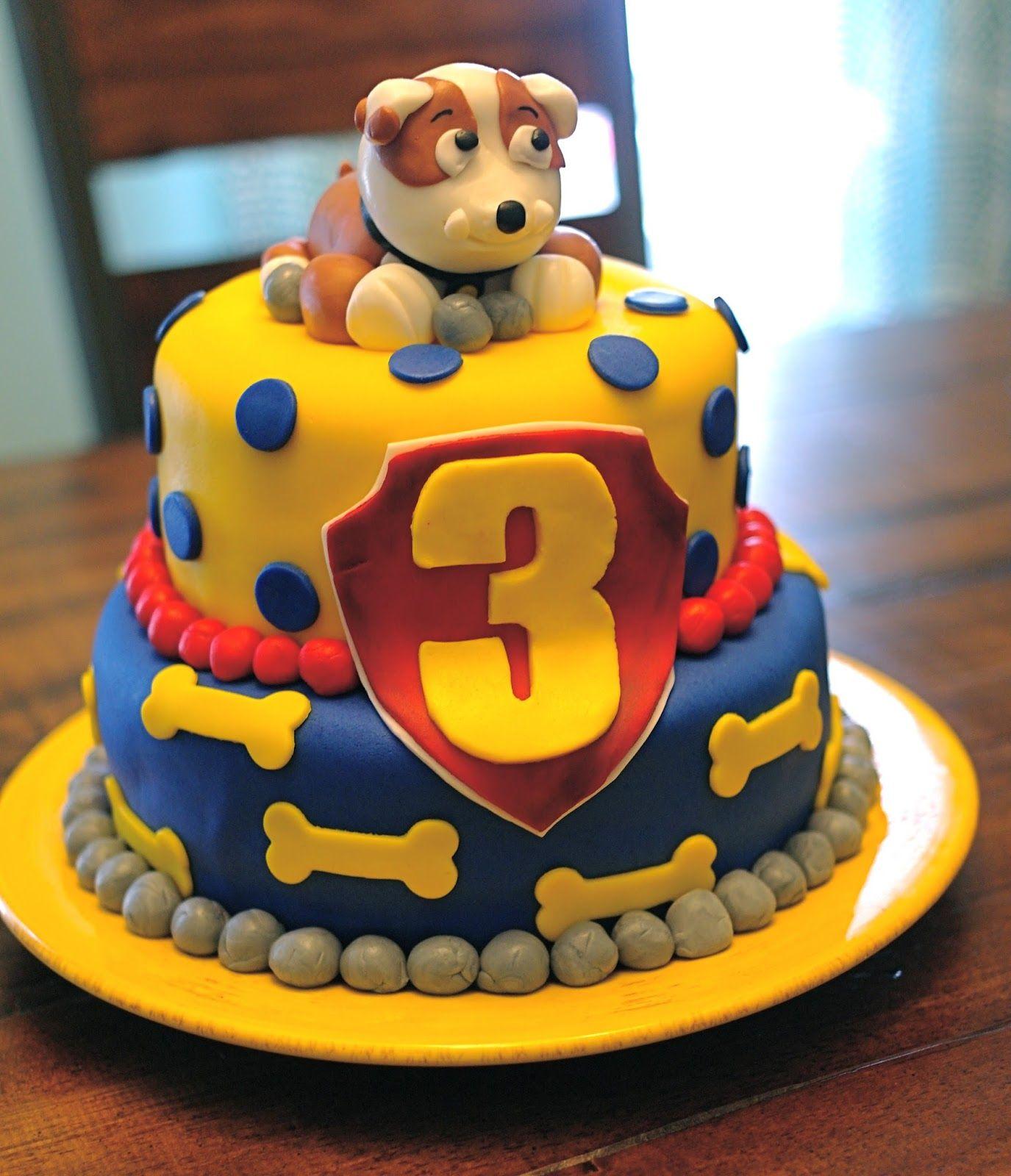 ideias decorao modelos de bolos festa patrulha canina