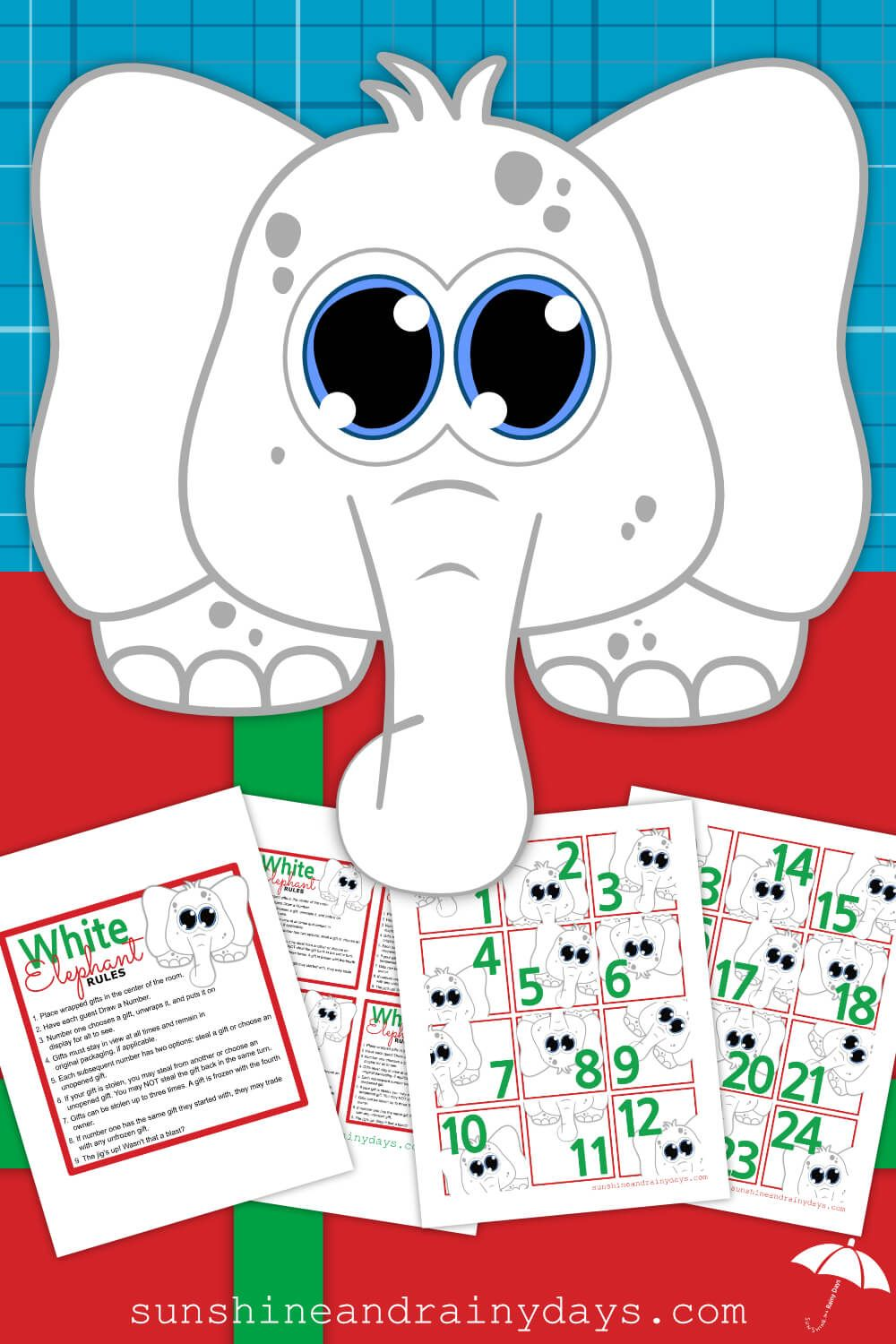 White Elephant Rules And Numbers | Sunshine and Rainy Days ...