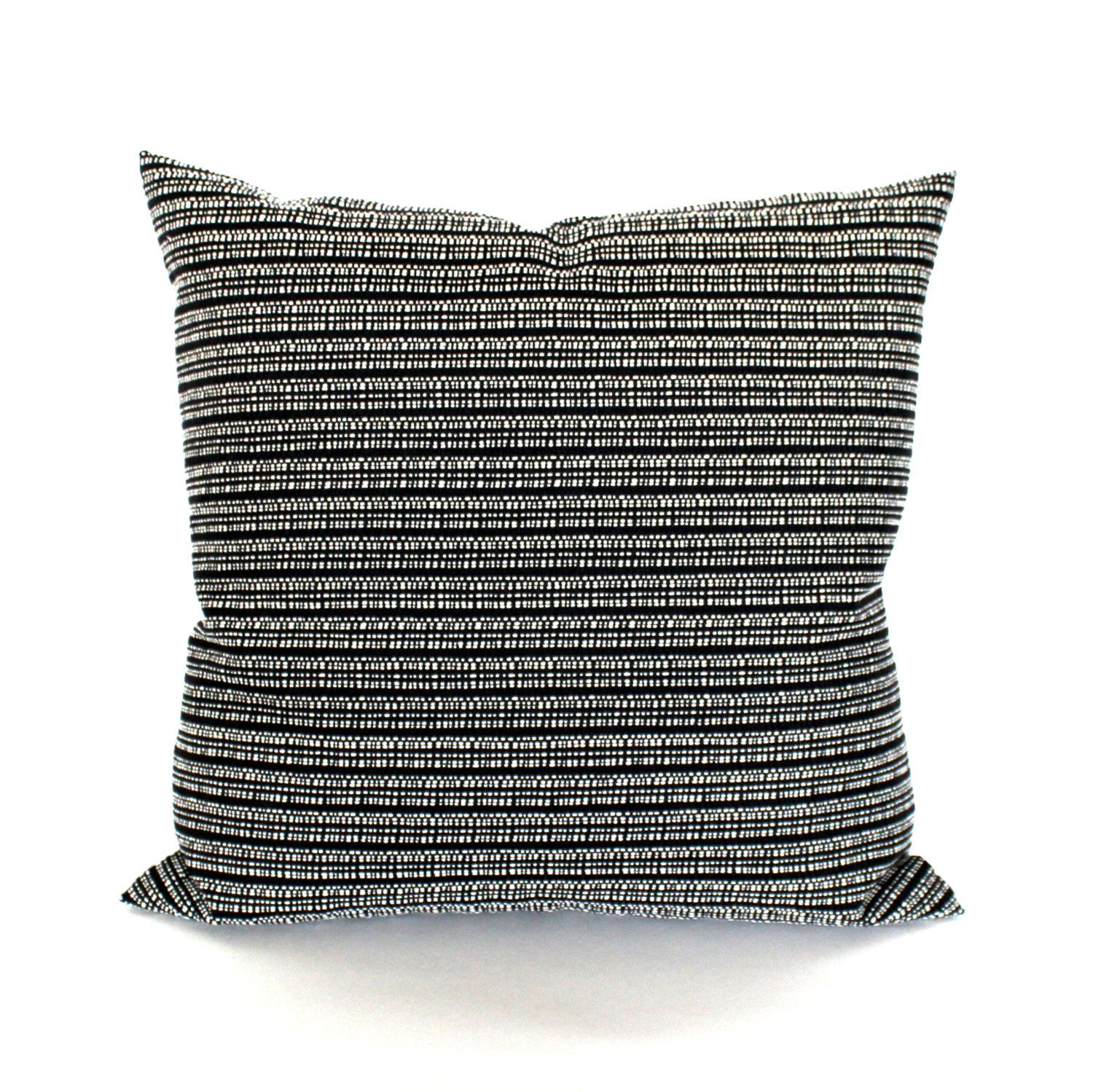 Black Pillow Cover Throw Pillow Cover Black And White Stripe