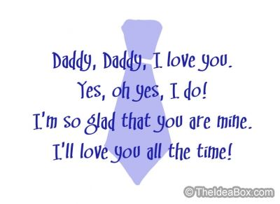 Daddy Daddy Poem
