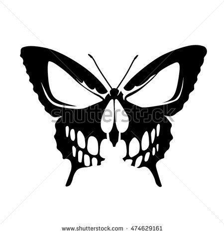 Photo of Schmetterling Schädel Tattoo, #butterfly #butterflyskulltattoo #skull #Tattoo – – #U …