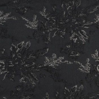 Black on Black Metallic Floral Brocade-319433-10 | Black ...