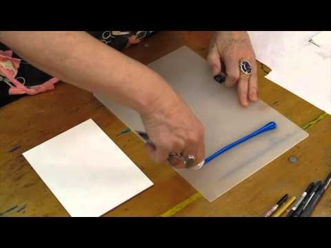 Monoprinting With GOLDEN OPEN Acrylics featuring Patti Brady - YouTube