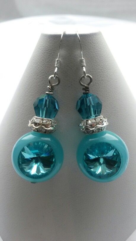 Totally turquoise earrings