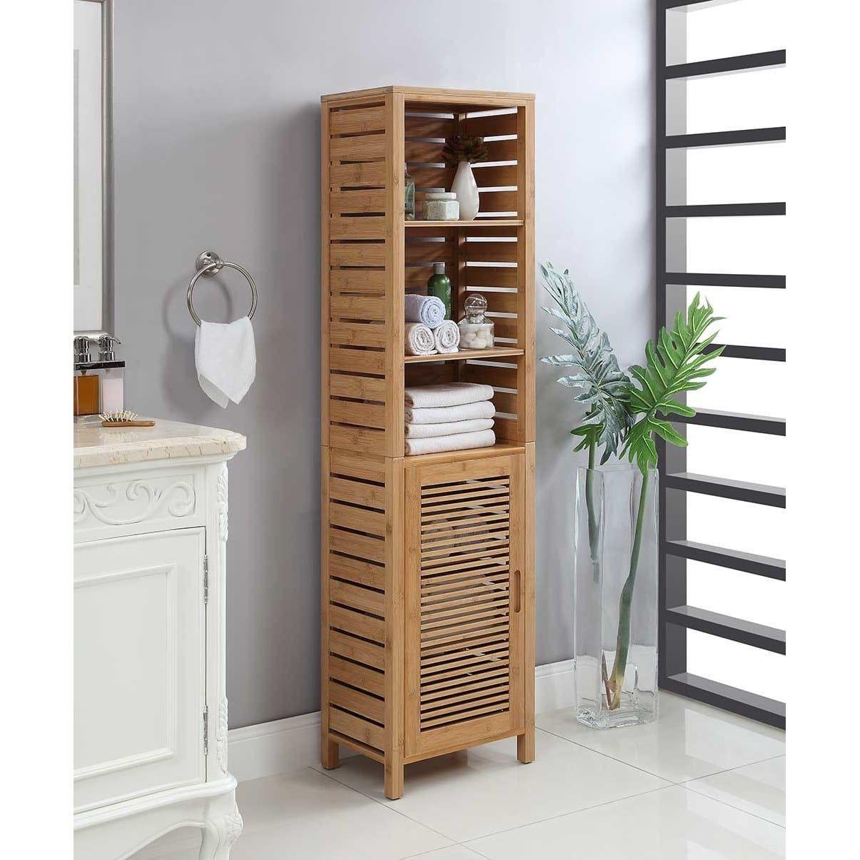 Bracken Tall Brown, Linon(Bamboo) Bathroom