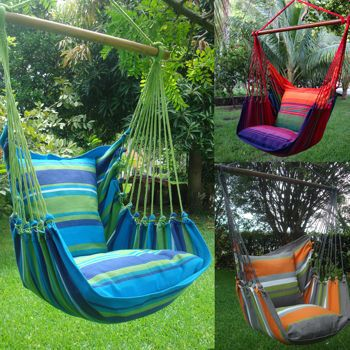 hammock chairswing includes seat and back patterns available tropical green tropical red or tropical grey