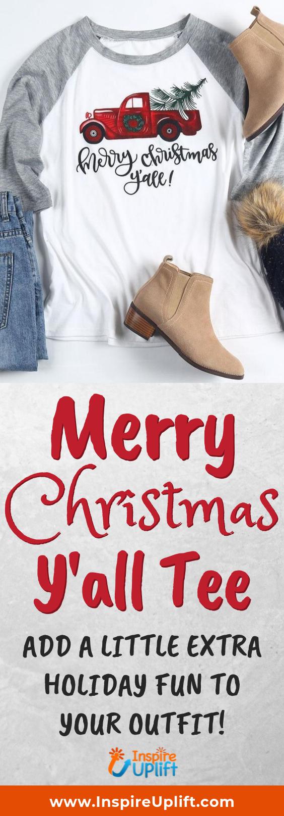 Merry Christmas Y'all Tee 😍 InspireUplift.com