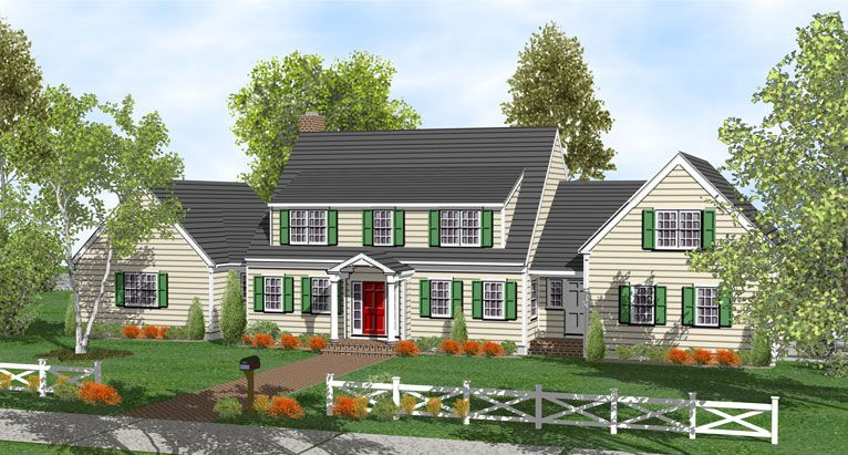 Delightful Cape Cod House Addition Ideas Part - 11: Cape+Cod+Shed+Dormer+Addition | Story Cape Home Plans For Sale