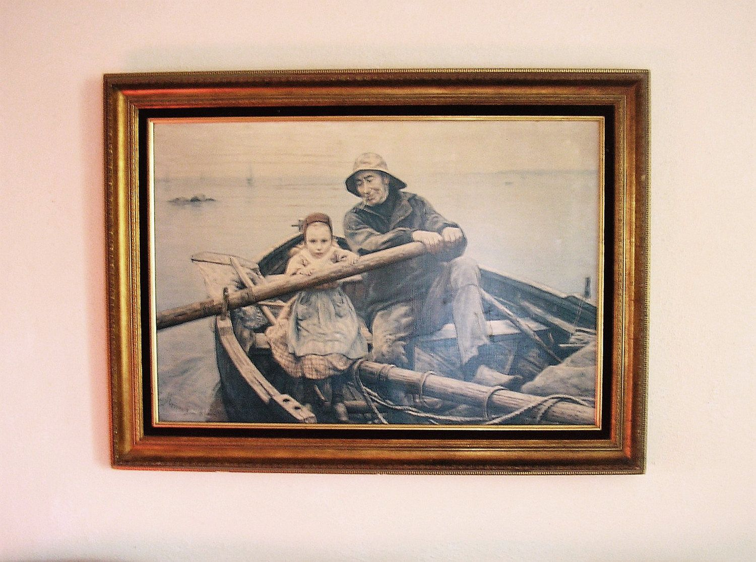 Reserved For Bonnie Vintage Painting The Helping Hand 1881 Emile