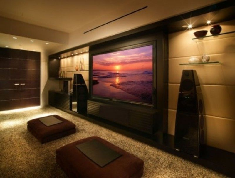 Room Decor | Media Room Decorating Ideas, Modern Media Room Design