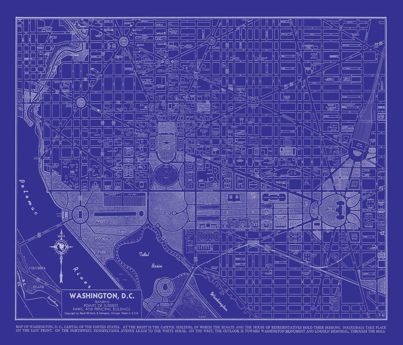 1944 washington dc street map vintage 16x20 blueprint 1995 via 1944 washington dc street map vintage 16x20 blueprint 1995 via etsy malvernweather Image collections