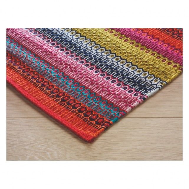 Runner Agnes Bright Stripe Cotton 75 X 250cm Now At Habitat Uk Rugswoven