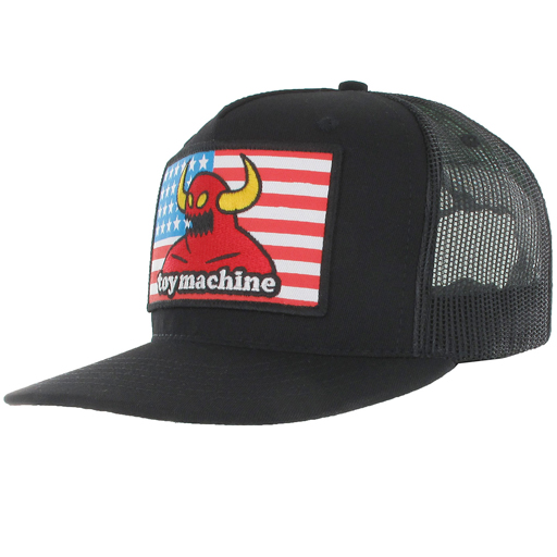 Toy Machine American Monster Snapback Trucker Hat (Black)  23.95 ... 215c3bdc3f1