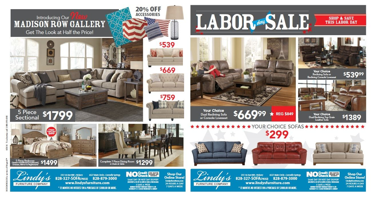 HAPPY LABOR DAY Lindys Furniture Hickory 828 327 8986 Connelly Springs