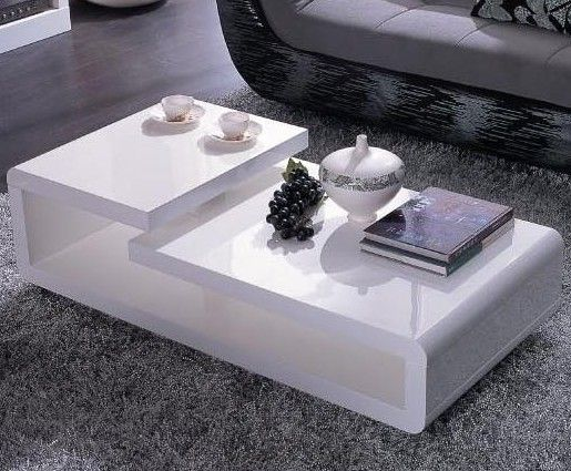 Vig Vgzh5011C 5011C Modern White Lacquer Coffee Table