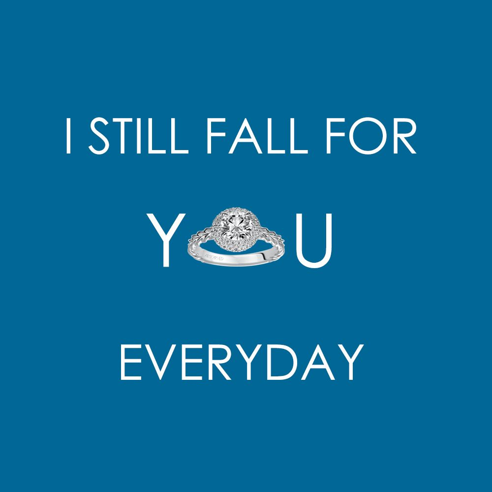 Love quotes by ArtCarvedBridal featuring our Mallory diamond