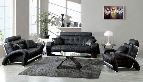 Aprende Cómo Decorar Utilizando Muebles de Cuero Negro | Living ...