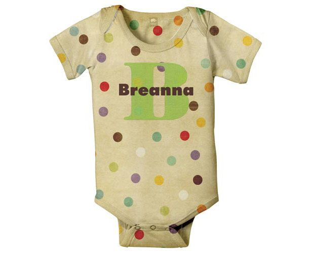 Monogram Baby Onesie Polka Dot Personalized by SimplySublimeBaby