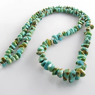 Turquoise Australian graduated small nugget gemstone beads (S) 4 to 8mm 18 inch: Wholesale, High Quality Gemstone Beads - Magpie Gemstones