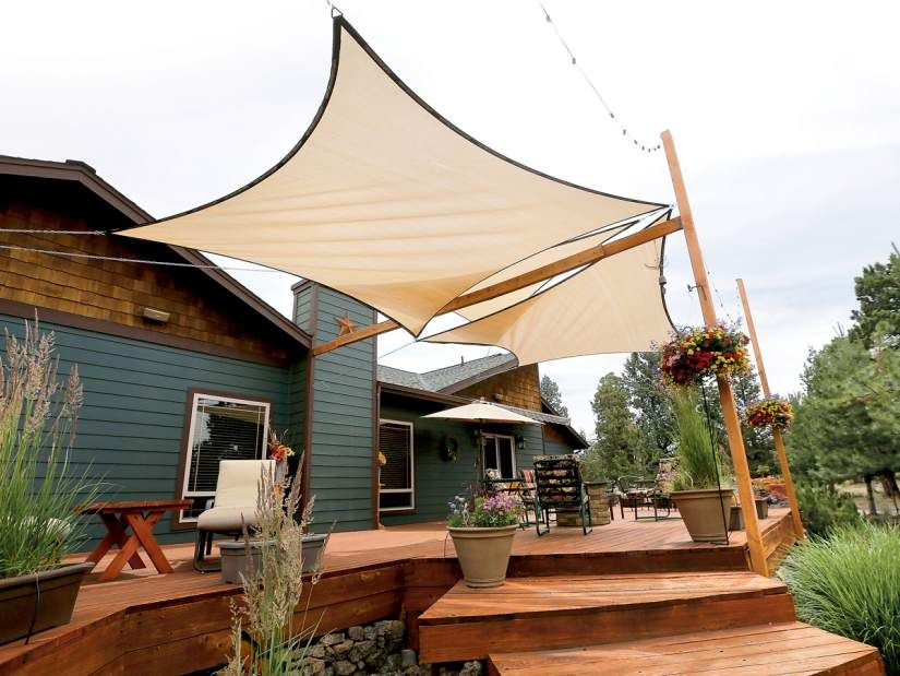 Shade Sails Are Affordable Innovative Sun Protection Shade Sail Shade Sails Patio Patio Shade