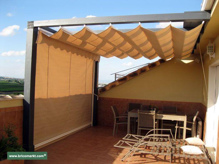 Toldo 700 525 pergolas y cerramientos for Toldo lateral para terraza