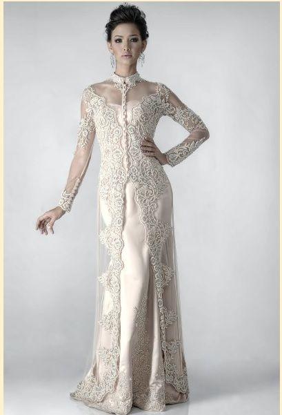 Malay Long Kebaya Tharlie S White Robes Inspiration In 2019