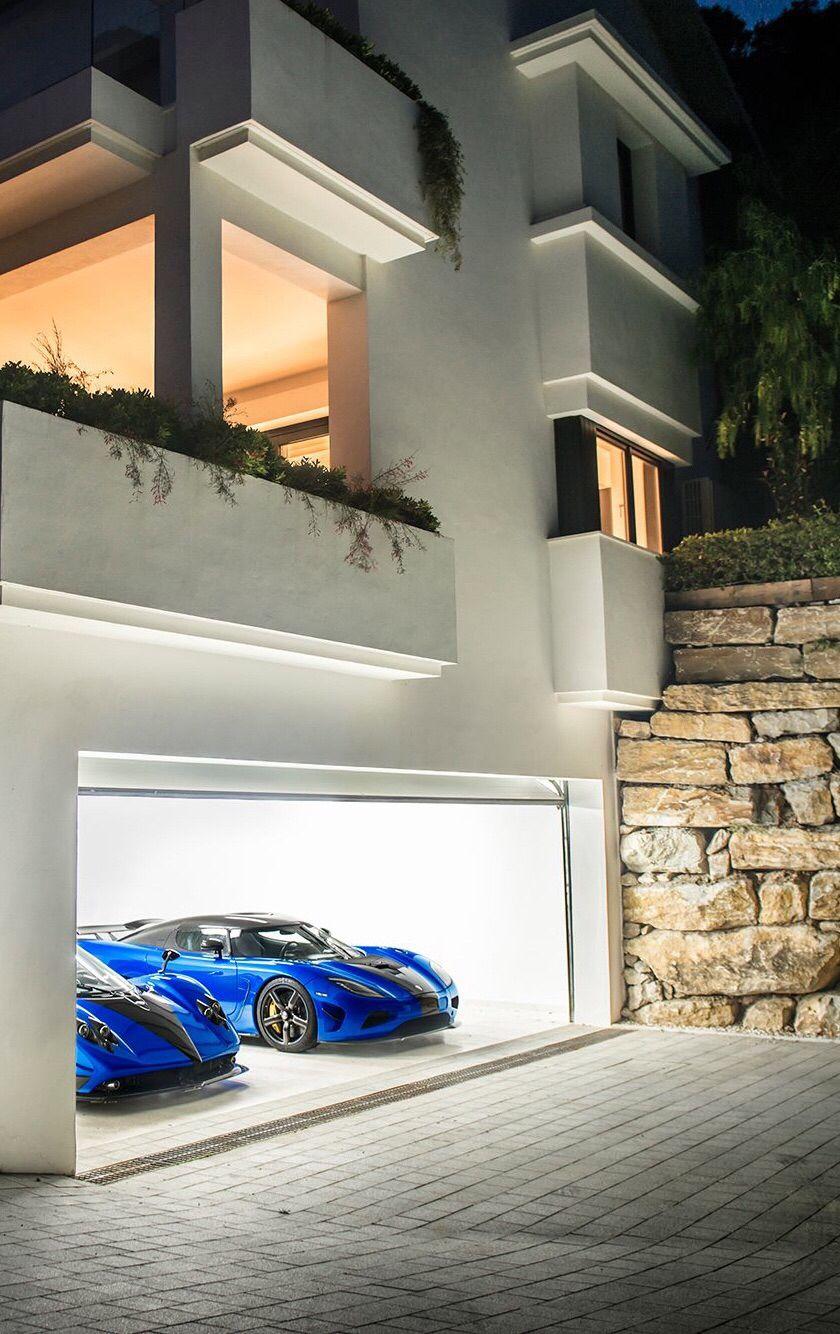 Zonda R And Agera R Dream Garage Luxury Garage Pagani Garage Design